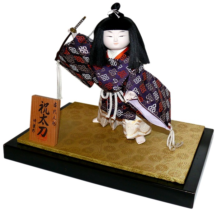 japanese traditional doll of young samurai
