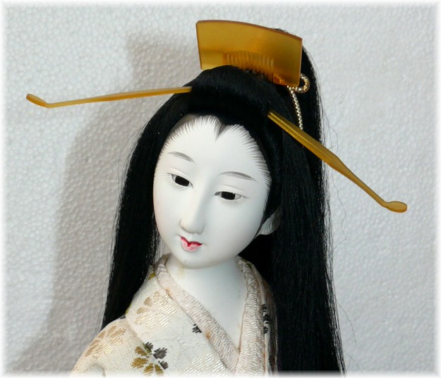 Japanese Antique Doll Of A Long Hair Beauty Japanese