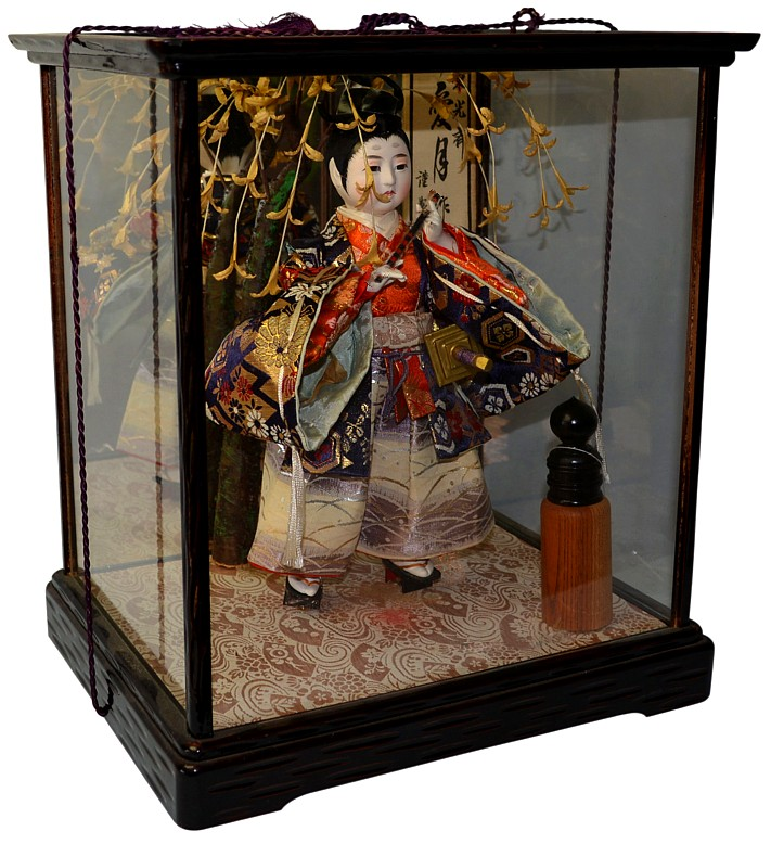 Japanese Antique Doll Of Young Prince Yositsune 1930 40 S Japanese