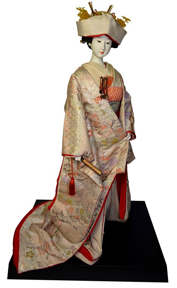 Japanese Bride Doll Dressed In Wedding Kimono 1950 S