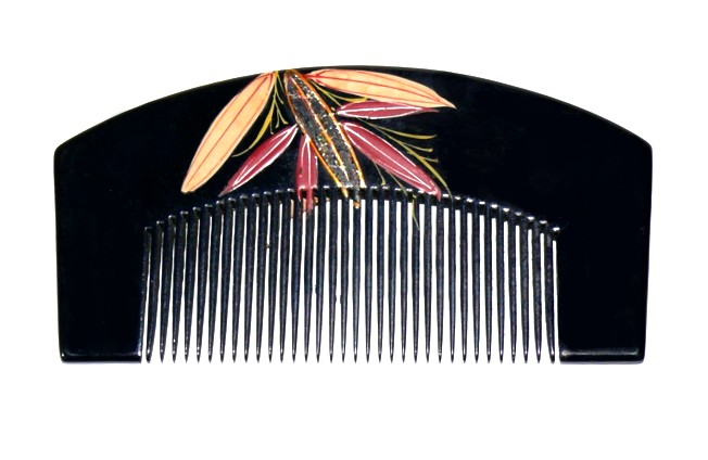 Japanese Hair Accessories Wooden Comb With Hand Painted