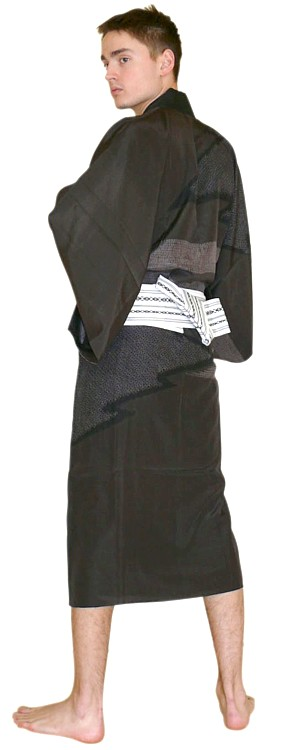 japanese  man kimono and obi belt